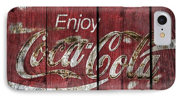 Coca Cola Sign Barn Wood IPhone Case