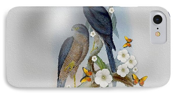 Collared Sparrow Hawk Phone Case by Madeline  Allen - SmudgeArt
