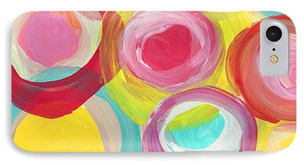 Colorful Sun Circles Panoramic Horizontal IPhone Case by Amy Vangsgard
