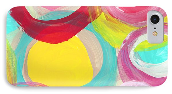 Colorful Sun Circles Square 2 IPhone Case by Amy Vangsgard