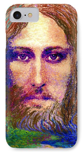 Contemporary Jesus Painting, Chalice Of Life IPhone Case by Jane Small
