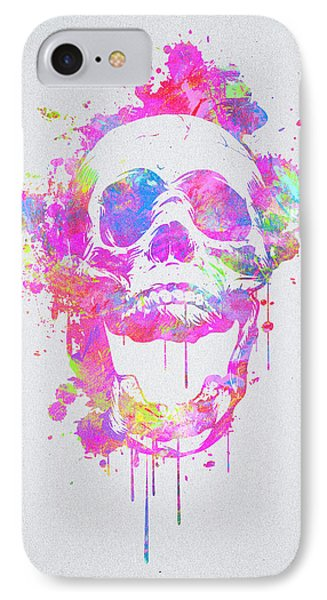 Cool And Trendy Pink Watercolor Skull IPhone Case
