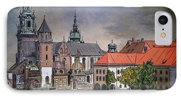 IPhone Case featuring the painting  Cracow.world Youth Day In 2016. by Andrzej Szczerski