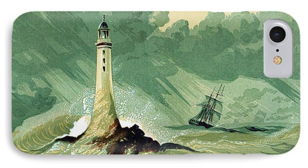 Eddystone Lighthous IPhone Case by English School