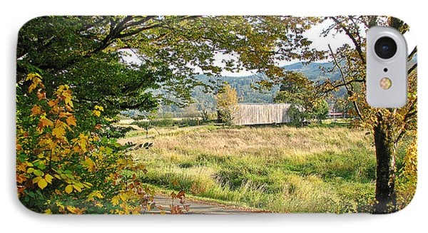 Fall At Grays River Covered Bridge IPhone Case by Ansel Price