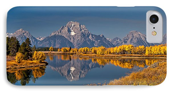 Fall Colors At Oxbow Bend In Grand Teton National Park IPhone Case by Sam Antonio Photography