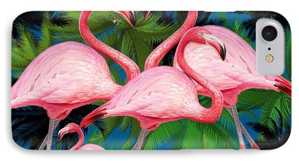 Flamingo IPhone 7 Case by Mark Ashkenazi