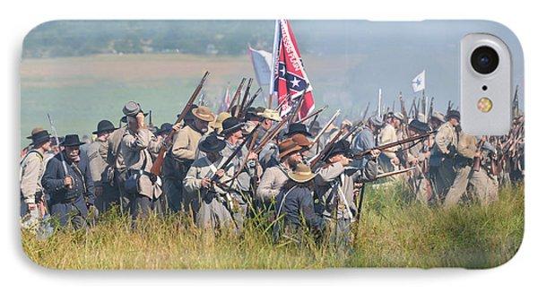 Gettysburg Confederate Infantry 9214c IPhone Case