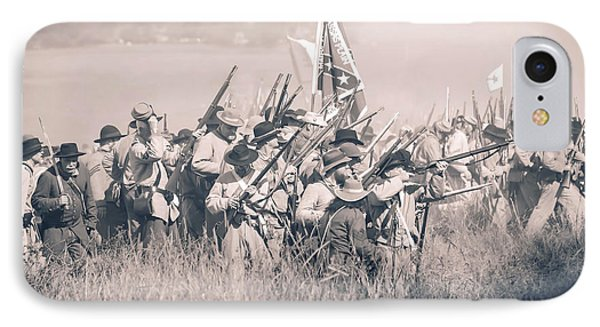Gettysburg Confederate Infantry 9214s IPhone Case