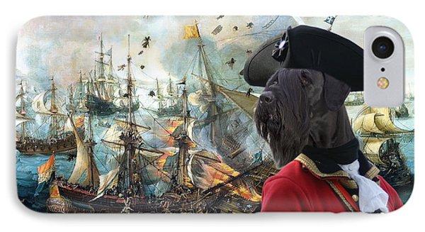 Giant Schnauzer Art Canvas Print - Battle Of Gibraltar  IPhone Case by Sandra Sij