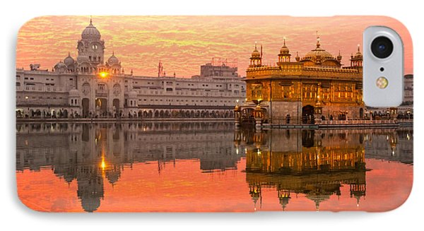 Golden Temple IPhone Case by Luciano Mortula