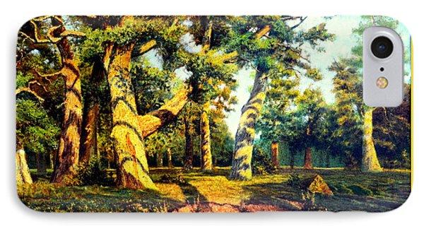 Green Summer-the Oak Forest IPhone Case by Henryk Gorecki