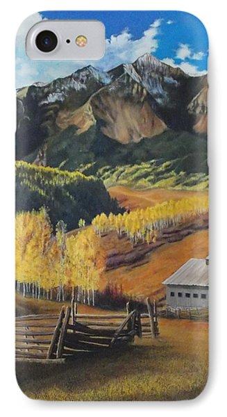I Will Lift Up My Eyes To The Hills Autumn Nostalgia  Wilson Peak Colorado IPhone Case