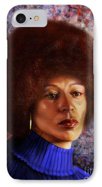 Impassable Me - Angela Davis1 Phone Case by Reggie Duffie