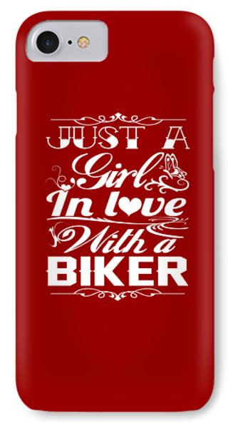 In Love With A Biker IPhone Case