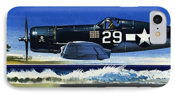 Into The Blue American War Planes IPhone Case by Wilf Hardy