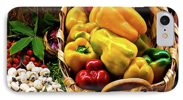 IPhone Case featuring the photograph  Italian Peppers  by Harry Spitz