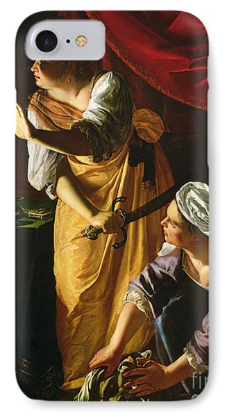 Judith And Maidservant With The Head Of Holofernes IPhone Case by Artemisia Gentileschi