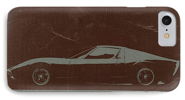 Lamborghini Miura IPhone Case by Naxart Studio