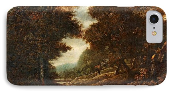 Landscape With Figures And Waterfall. IPhone Case