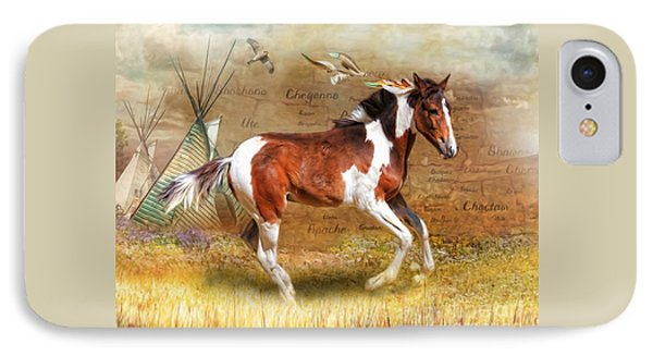IPhone Case featuring the digital art  Little Apache by Trudi Simmonds