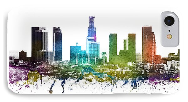 Los Angeles Cityscape 01 IPhone Case by Aged Pixel