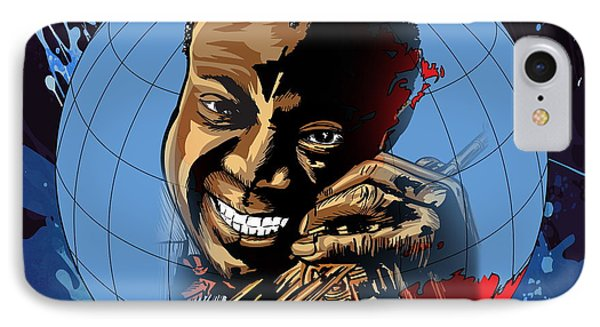 IPhone Case featuring the painting  Louis. by Andrzej Szczerski