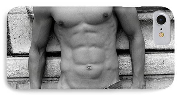 Male Abs Phone Case by Mark Ashkenazi
