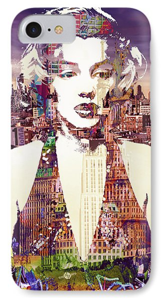 Marilyn Monroe Vulnerable In New York City 2 IPhone Case by Tony Rubino