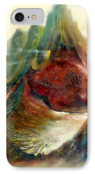 Mountains Fire IPhone Case by Henryk Gorecki