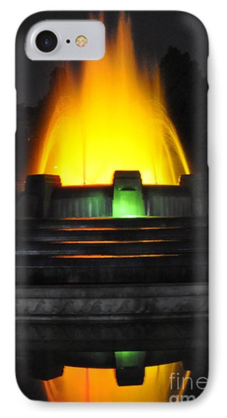 Mulholland Fountain Reflection IPhone Case