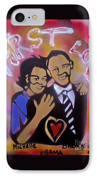 Obama First Love... IPhone Case by Tony B Conscious