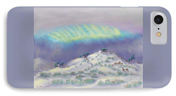 Peaceful Snowy Sunrise IPhone Case by Dawn Senior-Trask