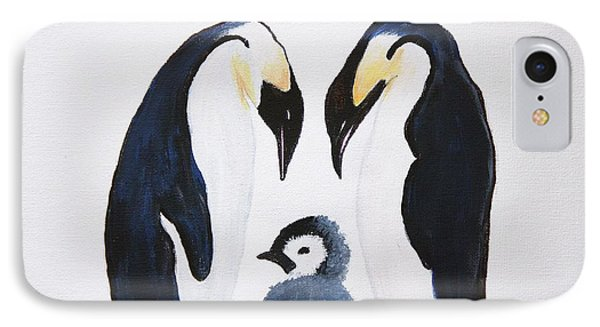 Penguins With Chick  IPhone Case