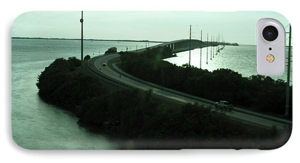 Photography Of Roads N Baches 90 Miles South Of Miami On The Island Chain Of Islamorada IPhone Case by Navin Joshi