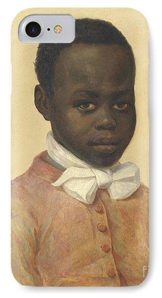 Portrait Of A Boy IPhone Case by MotionAge Designs
