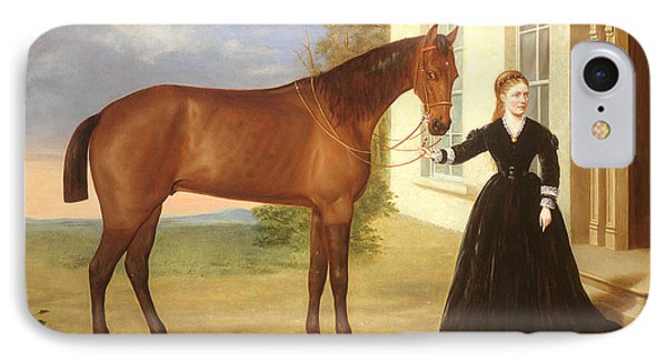 Portrait Of A Lady With Her Horse IPhone Case