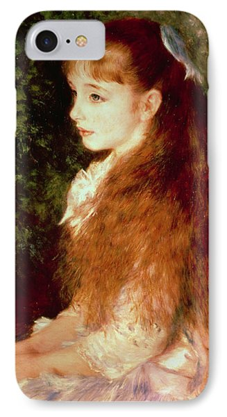 Portrait Of Mademoiselle Irene Cahen D'anvers IPhone Case by Pierre Auguste Renoir