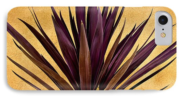 Desert iPhone 7 Case -  Purple Giant Dracaena Santa Fe by John Hansen