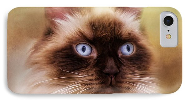 IPhone Case featuring the digital art  Ragdoll Cat by Trudi Simmonds