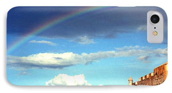 Rainbow Over El Morro Fortress Phone Case by Thomas R Fletcher