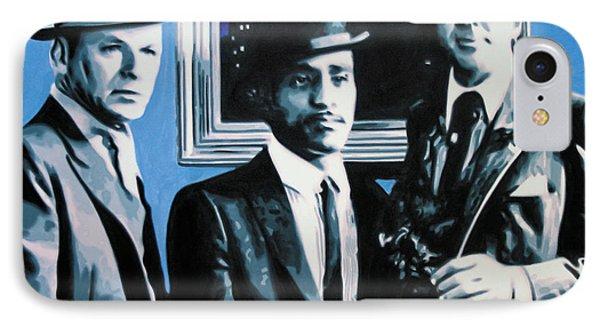 - Rat Pack Blue Detail - IPhone Case by Luis Ludzska