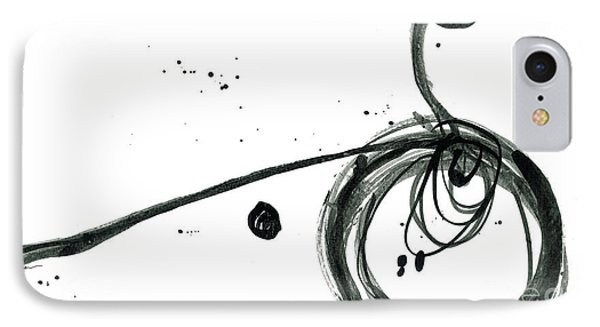 Revolving Life Collection - Modern Abstract Black Ink Artwork IPhone Case