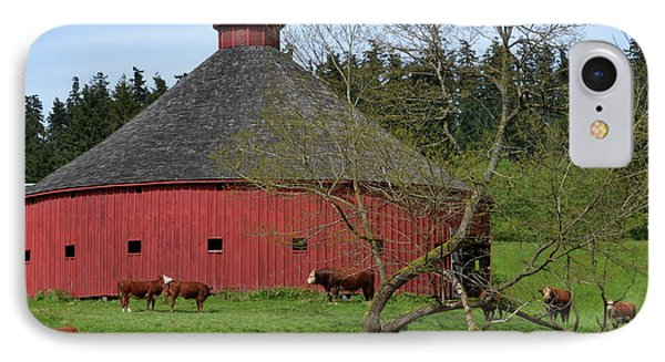 Round Red Barn IPhone Case by Ansel Price