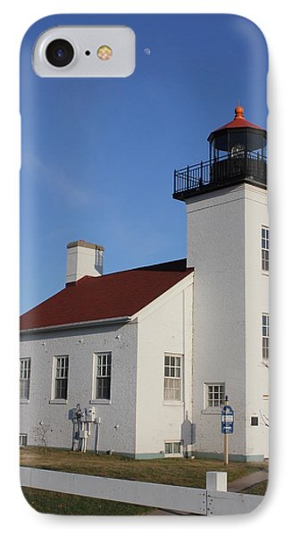 Sand Point Lighthouse Escanaba IPhone Case by Charles Morrison