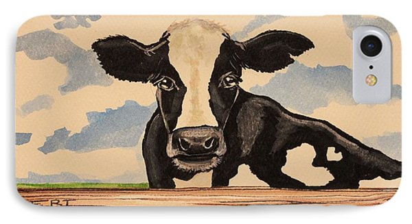 Say Hello To Patty The Cow IPhone Case by Elizabeth Robinette Tyndall