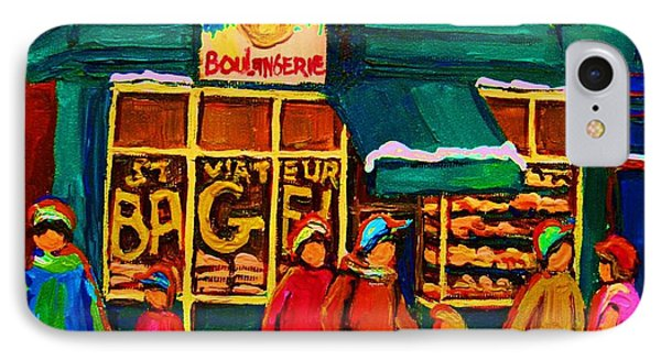 St. Viateur Bagel Family Bakery Phone Case by Carole Spandau