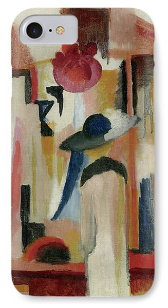 Study Of A Bright Shop Window IPhone Case by August Macke