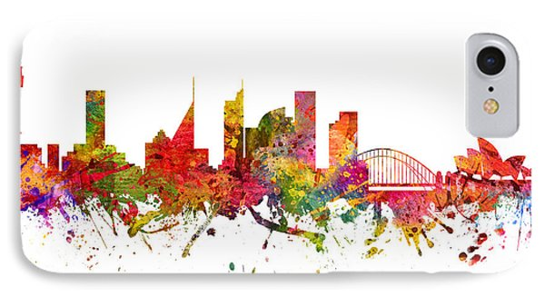 Sydney Australia Cityscape 08 IPhone 7 Case by Aged Pixel