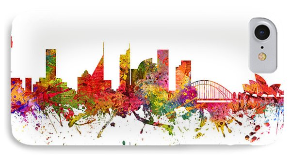 Sydney Australia Cityscape 08 IPhone Case by Aged Pixel